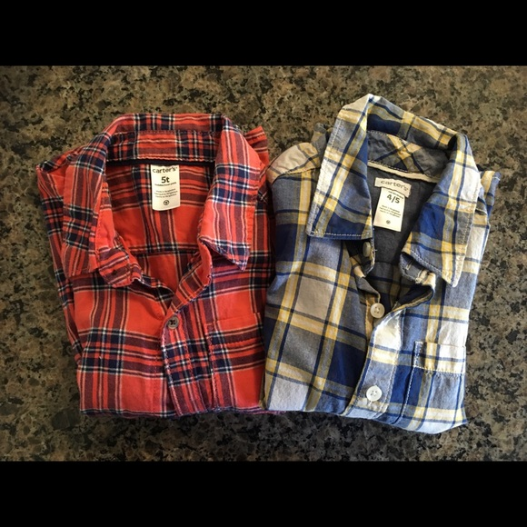 Lot of 2 Carter's Button Down Shirts